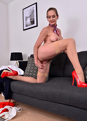 Kasia riding blue dildo